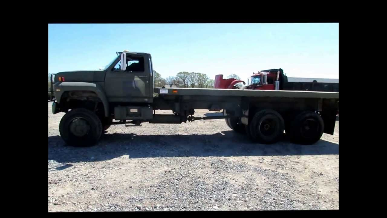 Flatbed For Sale >> 1989 Ford F800 flatbed truck for sale | sold at auction May 31, 2013 - YouTube