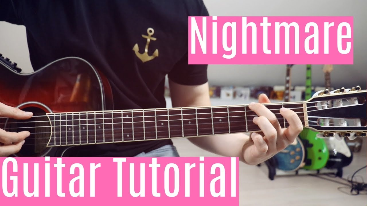 Nightmare Halsey Guitar Tutorial Lesson Easy How To Play