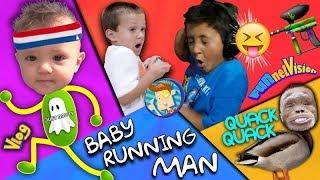 BABY RUNNING MAN CHALLENGE! FUNnel Vision Random August 2016 Vlog