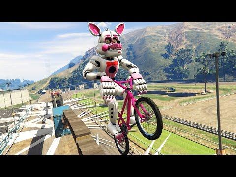 ULTIMATE FUNTIME FOXY BMX DEATHRUN! (GTA 5 Mods FNAF SL Funny Moments)