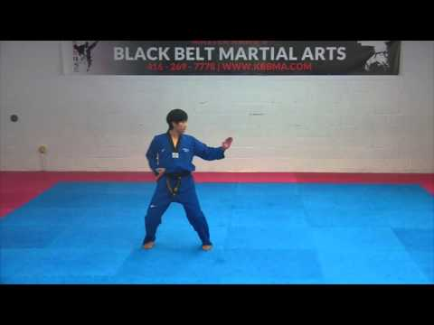 1st Dan Black Belt Poomsae -Koryo- Taekwondo
