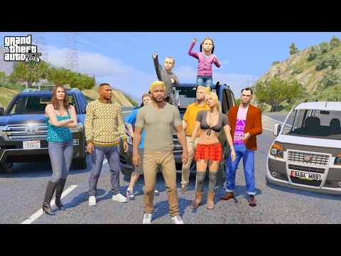 GTA 5 REAL LIFE MOD #257 FAMILY ROAD TRIP!