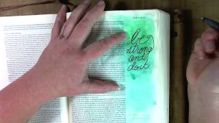Creating In Faith Ezra 10:4 Bible Journaling Jamie Dougherty