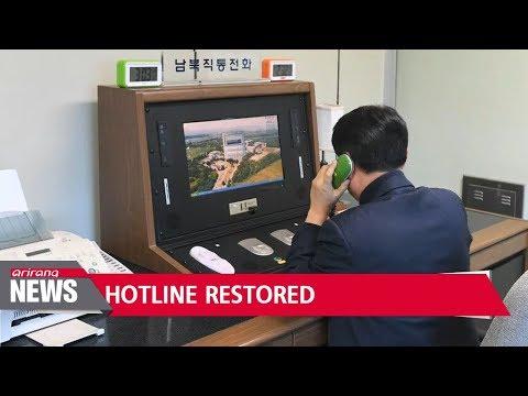 N. Korea restores hotline with S. Korea on Wednesday