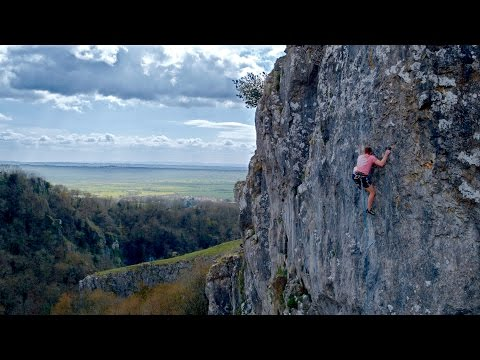 Rock climbing with a drone (Cheddar Gorge) 4K