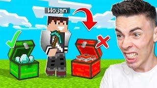 NIE ZNISZCZ ZŁEJ SKRZYNKI w Minecraft CHALLENGE!