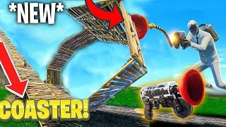 FIRST EVER * NEW * GRAPPLING HOOK ROLLER COASTER!! (Fortnite Battle Royale)