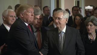 President Trump Speaks after a Senate Republican Policy Lunch