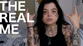 covering myself in fake tattoos (19 to be exact)