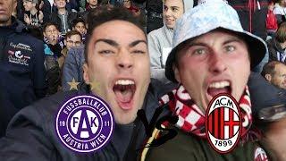 5 GOALS!!! Uefa Europa League Austria Wien vs AC Milan Vlog