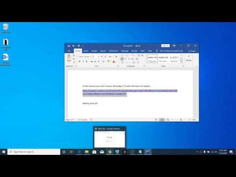 Fix No Sound Issue With Creative SB Audigy 2 ZS After Windows 10 Update