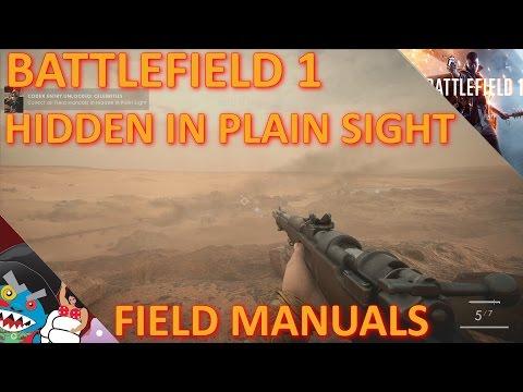 "BF1: ""Hidden in Plain Sight"" Field Manual Locations (Celebrities Codex)"