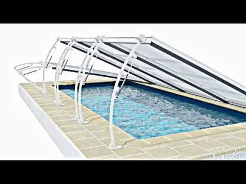 Abri piscine plat youtube for Abris piscine plat