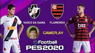 Canal do Gu ! - PES 2020 - Vasco x Flamengo - Gameplay