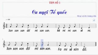 Tập đọc nhạc số 1 lớp 7 || TDN SO 1 LOP 7 ||  Ca ngợi tổ quốc
