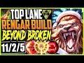 TOP LANE RENGAR SEASON 9 BUILD | PTA RENGAR IS BEYONG BROKEN | TOP Rengar Season 9 Gameplay