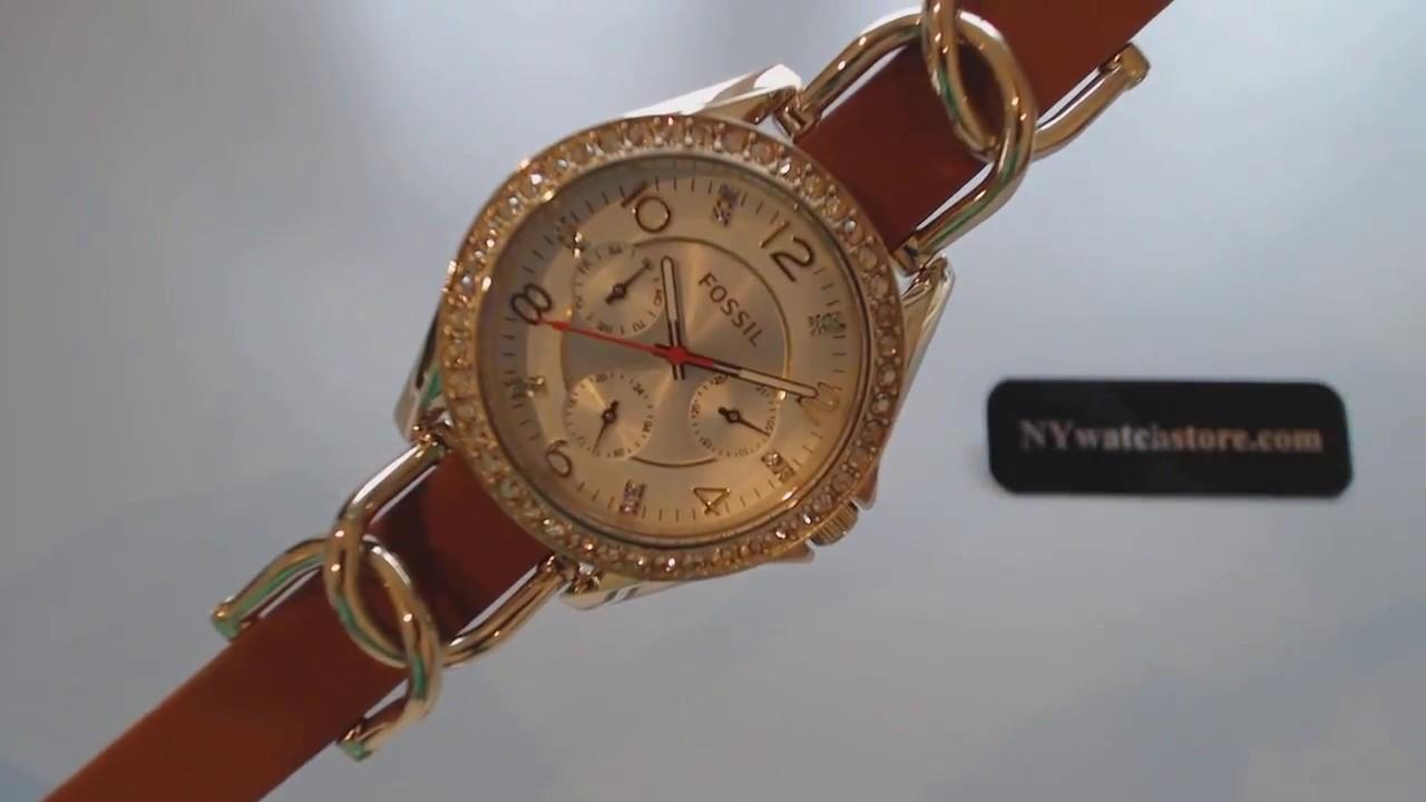 67d22d2c29f Women s Fossil Riley Multi Function Chain Bracelet Watch ES3723 ...