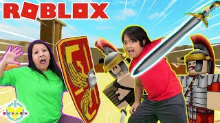 RYAN IS UNDEFEATED IN ROBLOX! Let's Play Roblox Undefeated with Ryan's Mommy