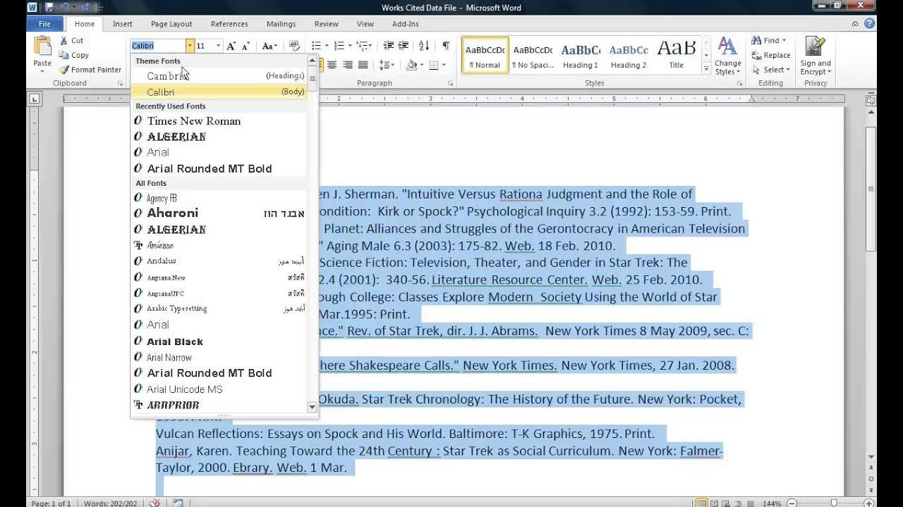 works cited formatter