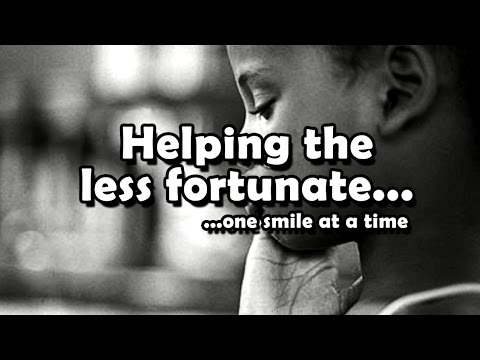 helping the less fortunate essay Reaching out and helping the homeless many men and women have entered our residential recovery programs and graduated to a new life because someone cared enough to reach out and let them know there was a place where they could get help.