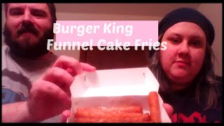 Burger King Funnel Cake Fries Taste Test