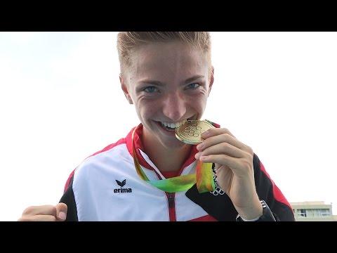 Youth Olympic Team Austria - Goldmedaille Stefan Schmid -  Leichtathletik - EYOF Tiflis 2015