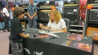 Dave Mustaine of Megadeth signing Vince Minogue