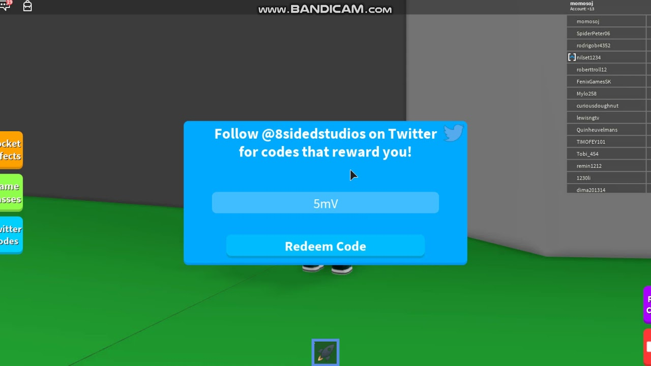 codes for rocket simulator roblox