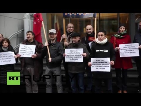 Belgium: Polish Journalists Denounce Government's New Media Law