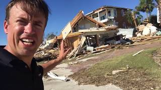 MEXICO BEACH the day after powerful Hurricane Michael storm surge