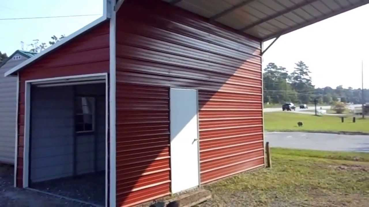 Cool Metal Carports : Cool sheds carport and steel structure video youtube