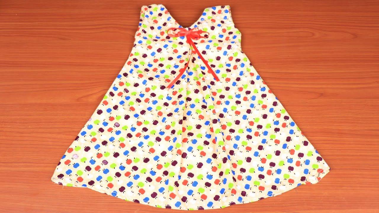 5f28c41063ad1 خياطة فستان طفلة في 8 دقائق بسيط جدا - YouTube