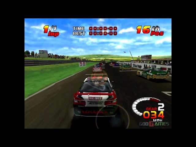Toca 2 - Gameplay PSX (PS One) HD 720P (Playstation classics)