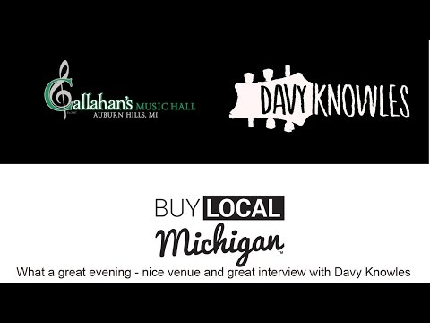 Davy Knowles Interview at Callahans Music Hall Auburn Hills