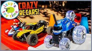 Cars  | REMOTE CONTROL CAR SHOWDOWN! Hot Wheels, Mario Kart, Construction!