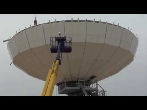 Skybrokers installing a Vertex 16m Earth Station Antenna in Spain