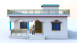 3 bedroom simple village house desgin   30 by 40 house plans for village   small house design