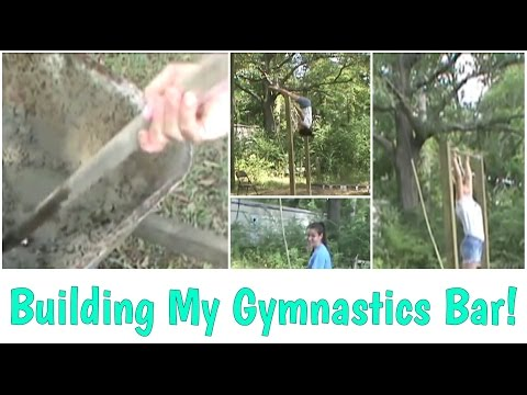 Building/Flipping On New, Homemade, Gymnastics Bar