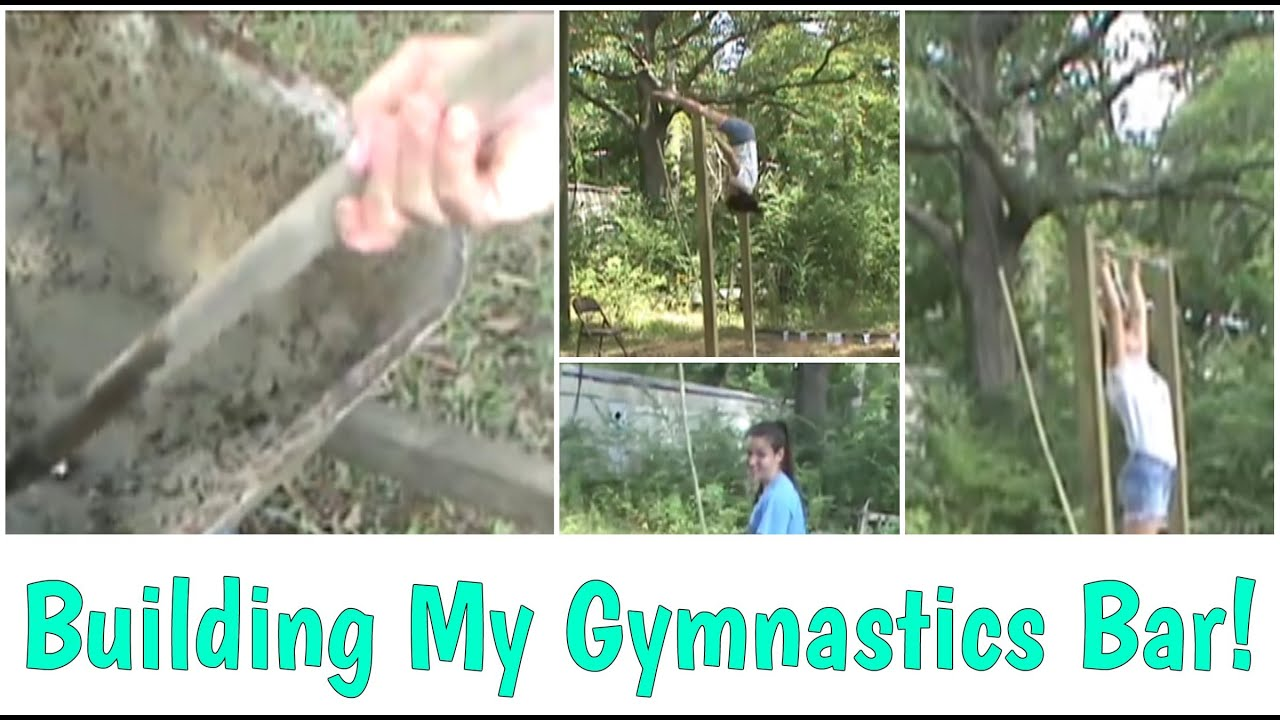 Building/Flipping On New, Homemade, Gymnastics Bar - YouTube