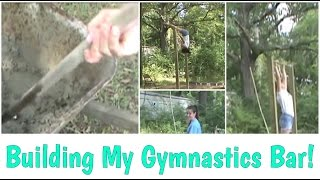 Building/flipping On New, Homemade, Gymnastics Bar | Gymnastics 101