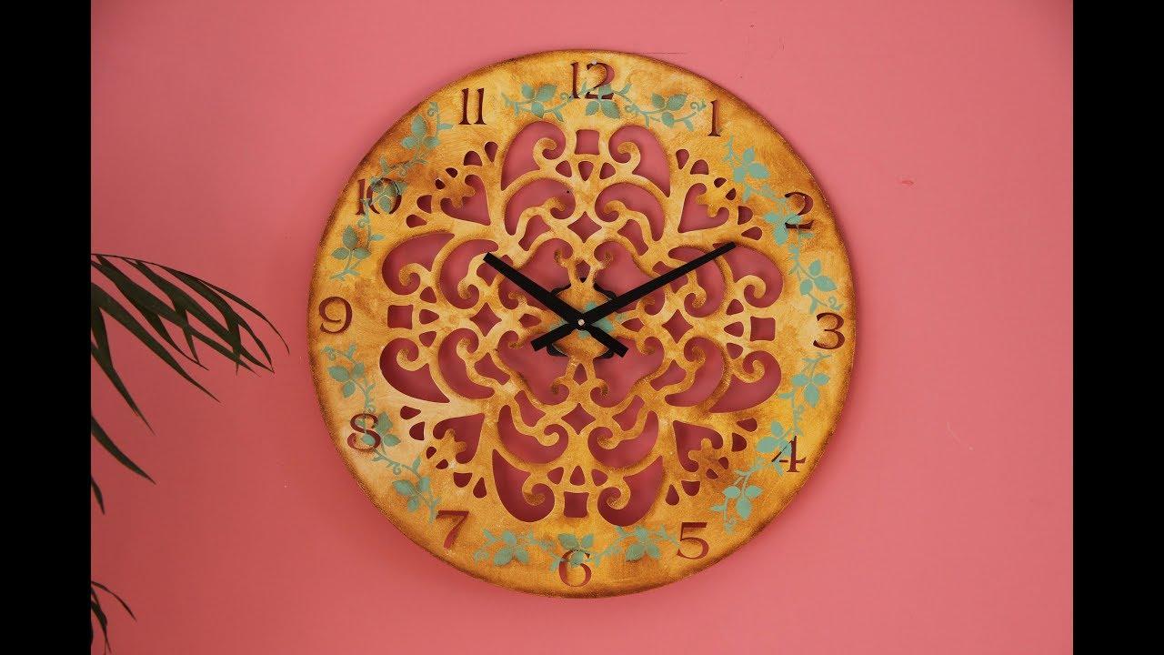 Reloj La Pintura Decorativa Comarca Laser Mandala UqSzMpGV