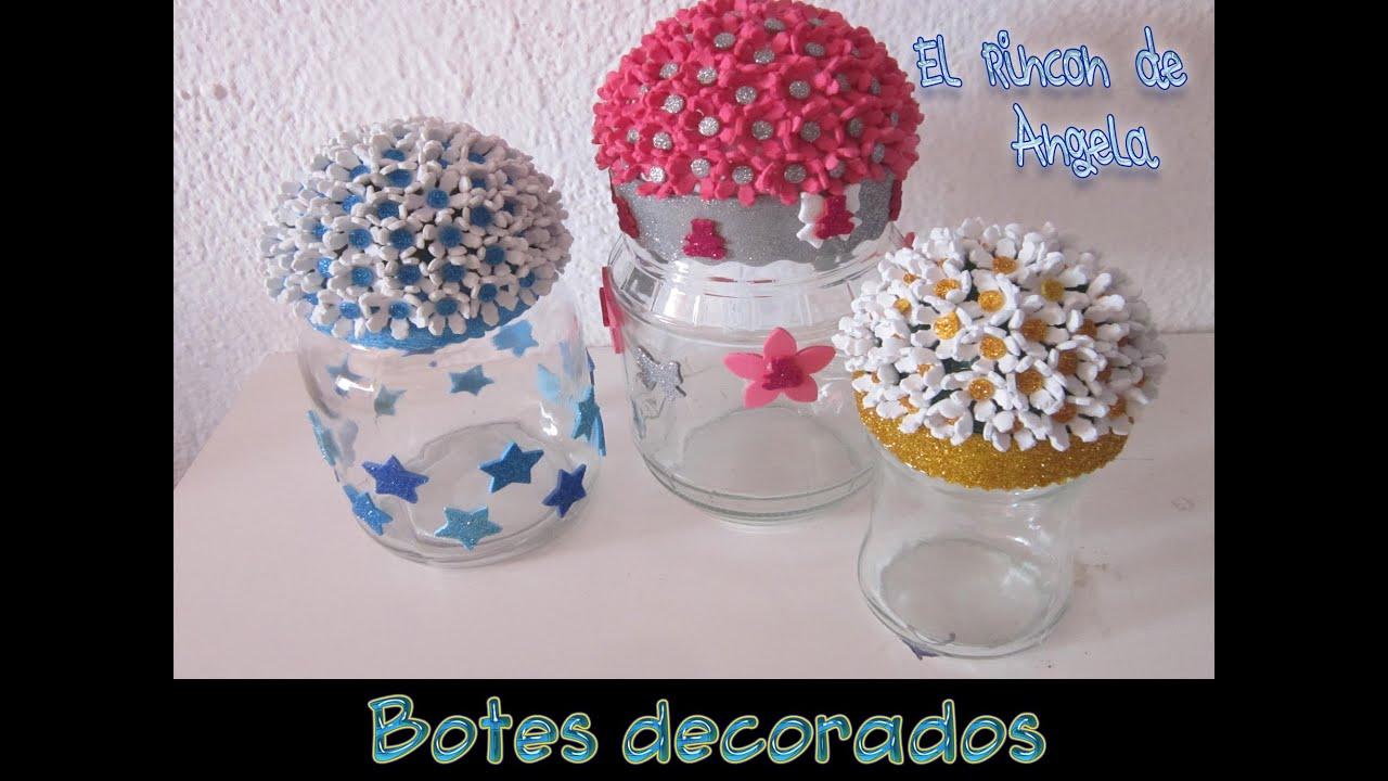 Botes De Cristal Decorados Trendy Tarros Cristal Navidad With
