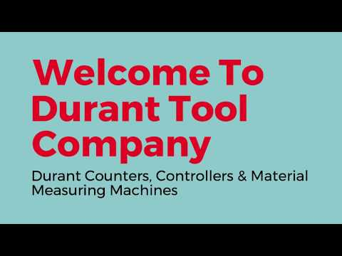Durant Counters Controllers  Material Measuring Machines