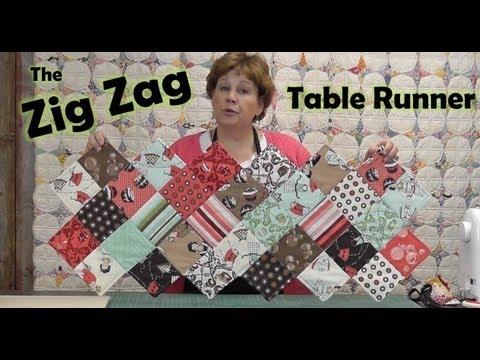 Zig Zag Charm Pack Table Runner