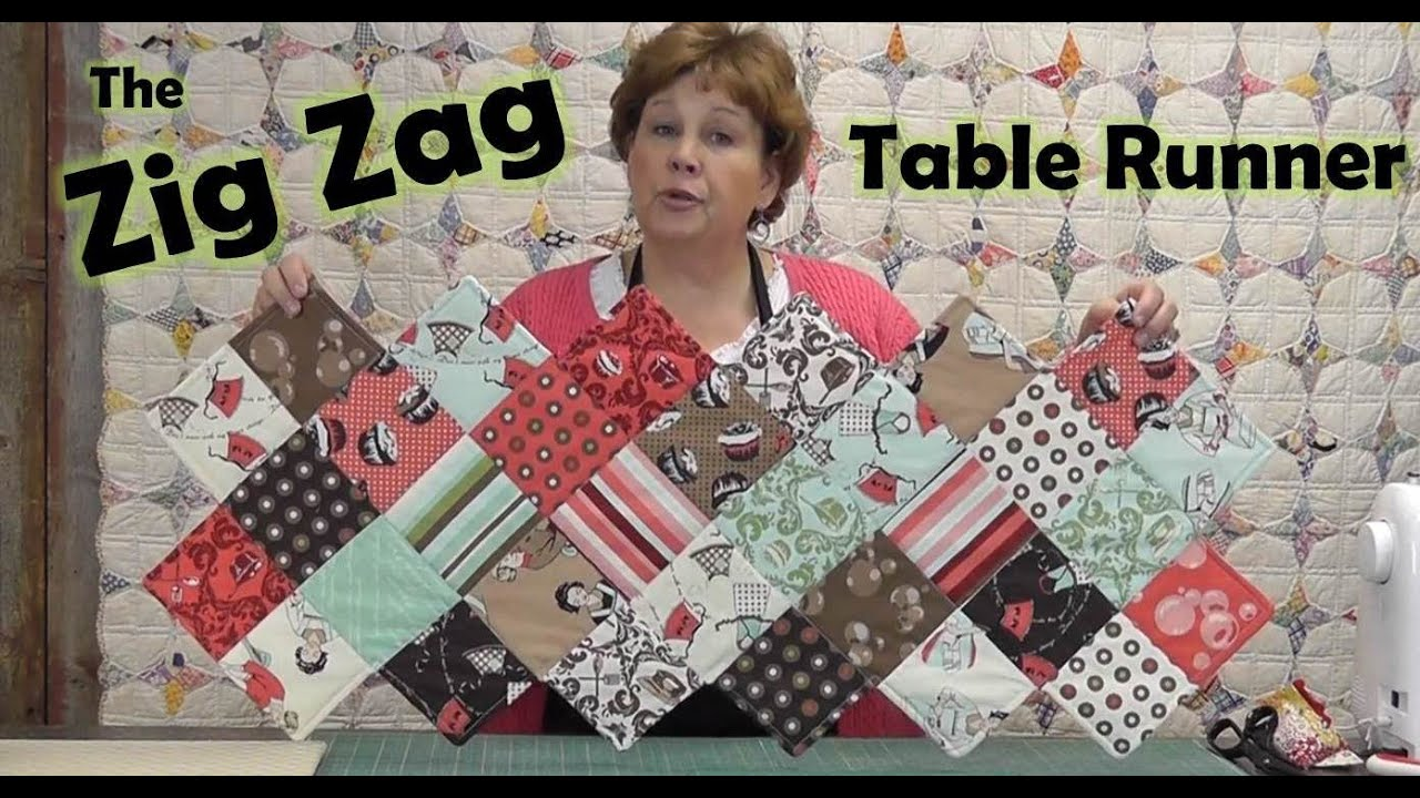 Zig Zag Charm Pack Table Runner Youtube