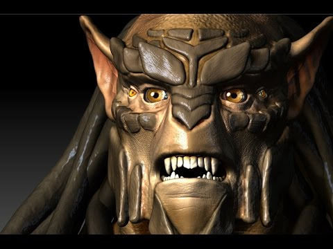 Modelling and texturing an Alien with ZBrush and Sculptris