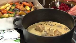 Krämig kycklinggryta – steg för steg   Arla Köket