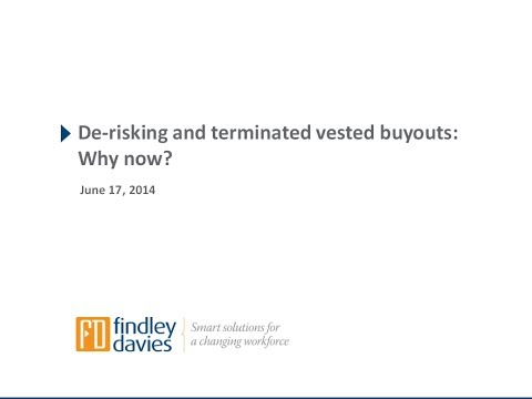 Pension Plan De risking and Terminated Vested Buyouts Why Now