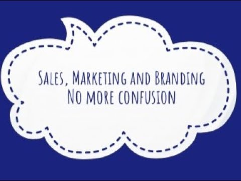 Sales, Marketing and Branding - no more confusion