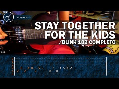 "Cómo tocar ""Stay Together For The Kids"" de Blink 182 COMPLETO (HD) Tutorial - Christianvib"